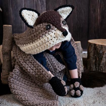 Hooded Woodland Fox Blanket