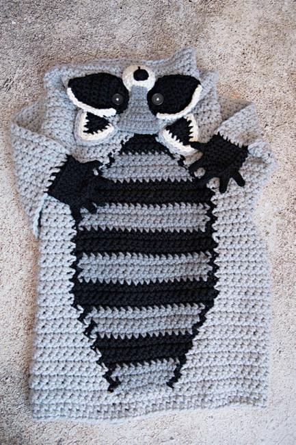 Hooded Woodland Raccoon Blanket