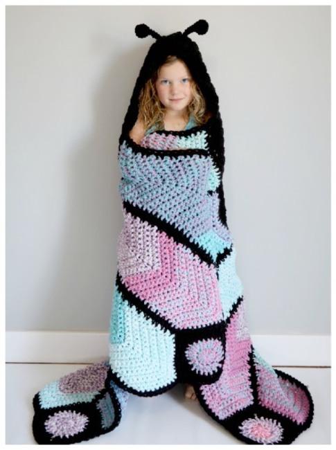 Hooded Butterfly Blanket