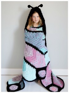 Hooded Butterfly Blanket