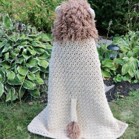 Hooded Lion Blanket