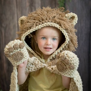 Hooded Lion Blanket