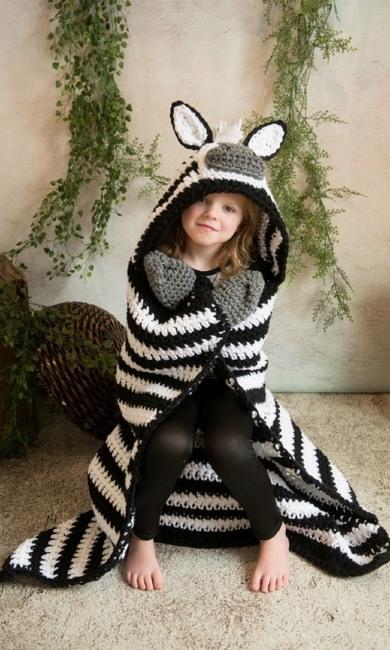 Hooded Zebra Blanket