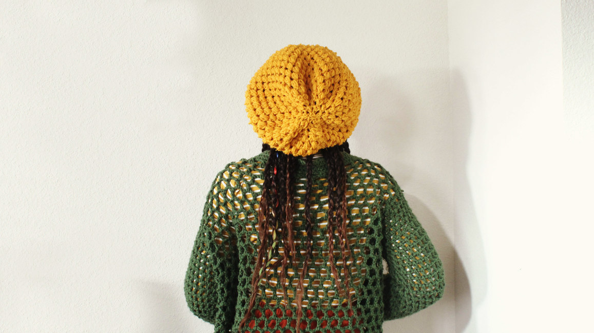 The Prime Puff Crochet Slouchy Hat.