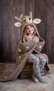 Hooded Woodland Deer Blanket