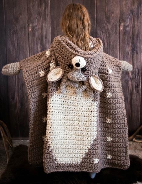 Hooded Woodland Deer Blanket
