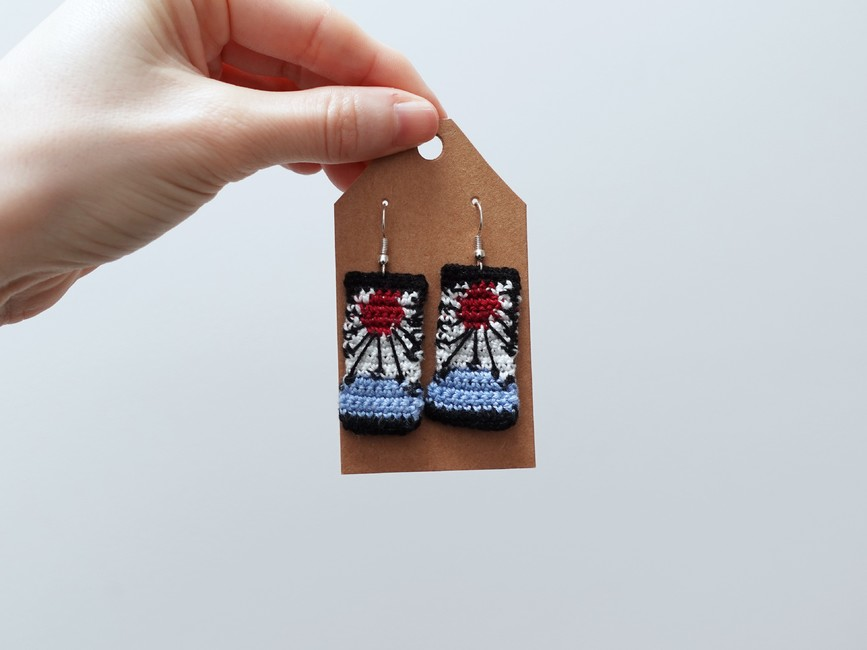 Demon Slayer inspired Hanafuda Earrings
