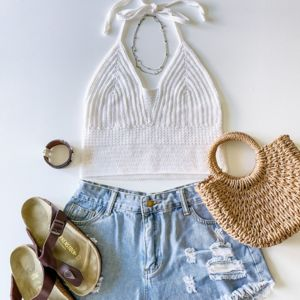 Stroll In The Park Halter Top