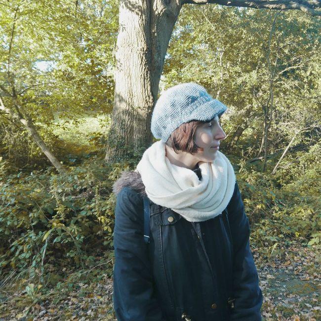 Autumnal Brimmed Beret