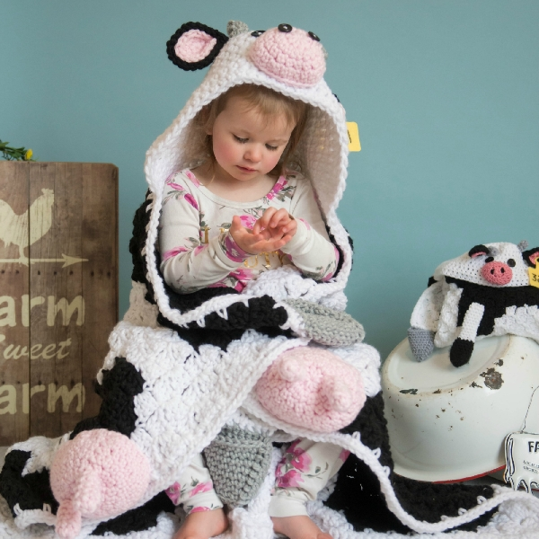 Hooded Cow Blanket