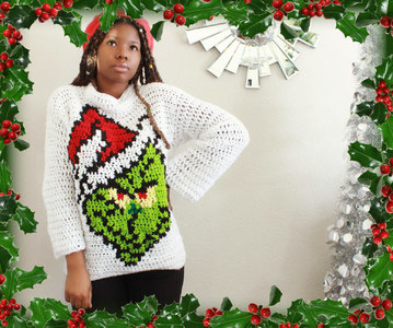 The Santa Grinch Crochet Sweater!