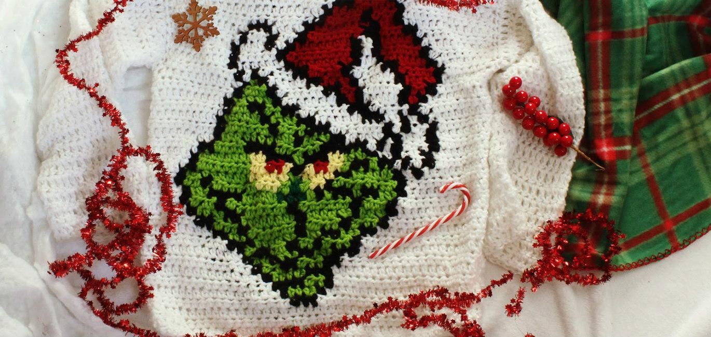 The Santa Grinch Crochet Sweater!