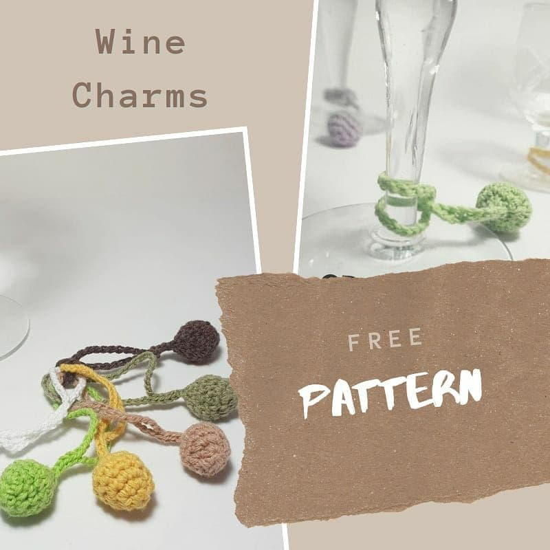 Crochet /& Sewing Wine Charms