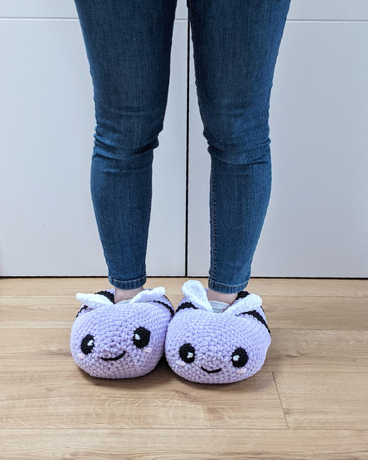Chunky Bee Slippers