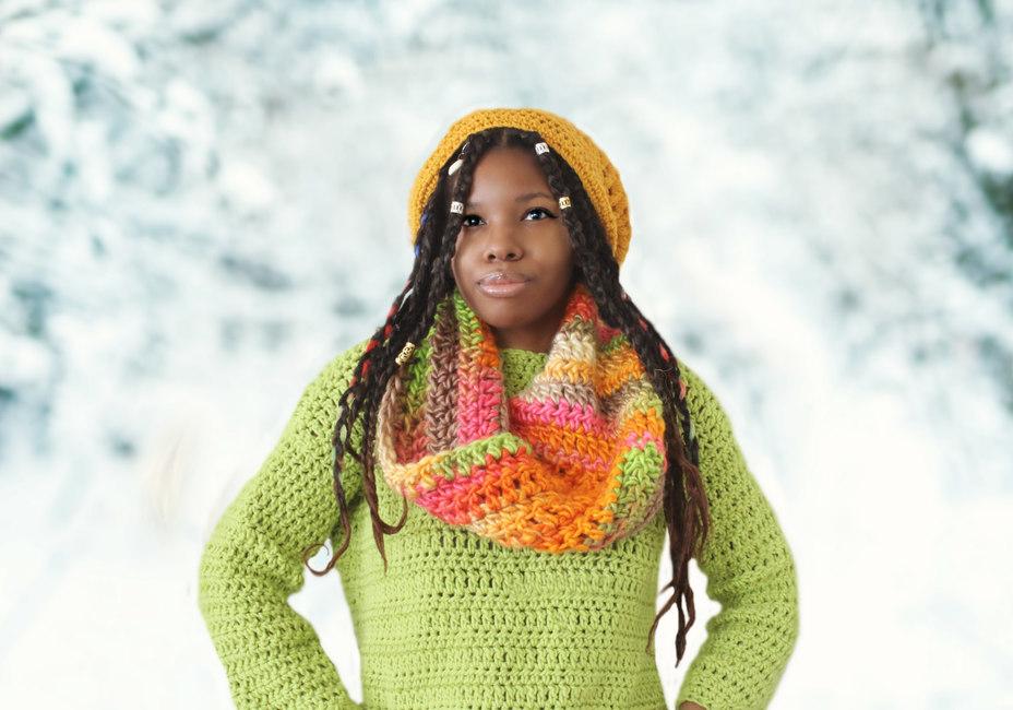 The Infinity Twist Crochet Scarf