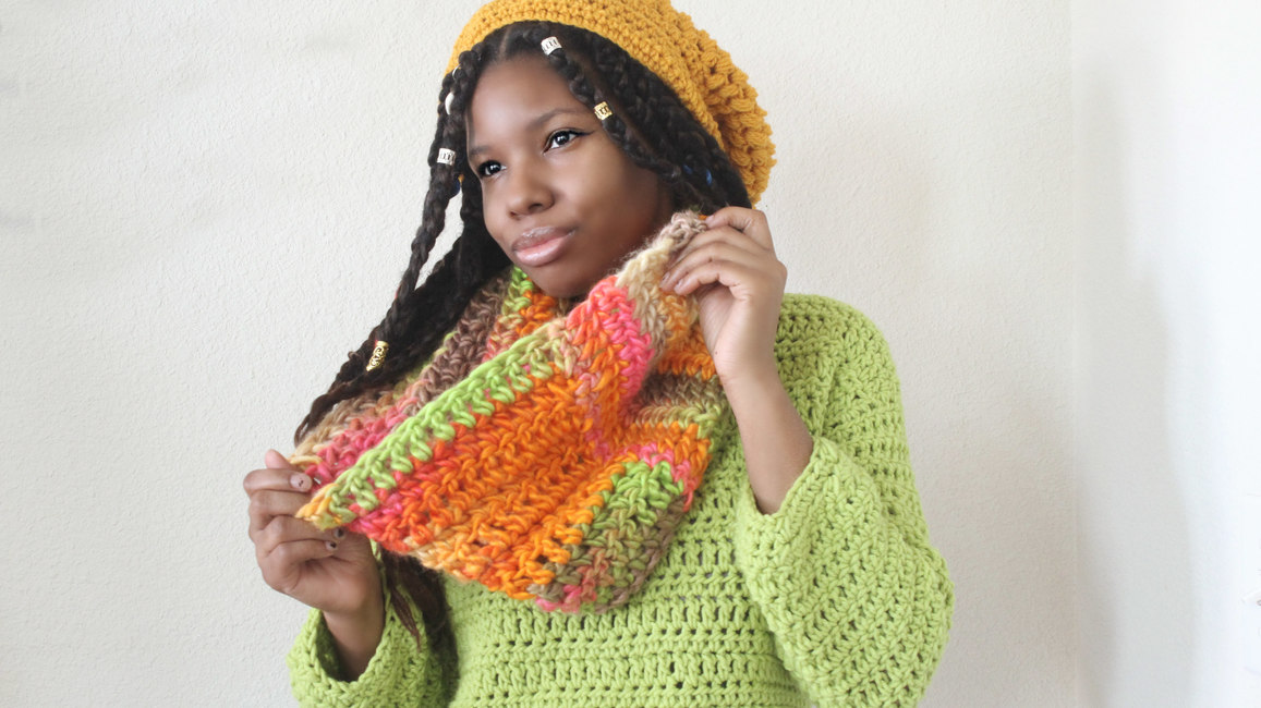 The Infinity Twist Crochet Scarf