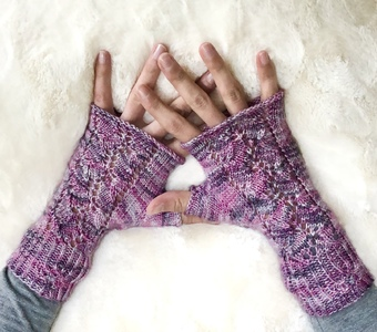 Forget Me Not Lace Mitts