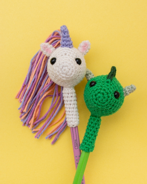 Unicorn and Dragon Pencil Toppers