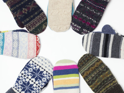 Womens Sweater Mittens Upcycled Wool Sweaters
