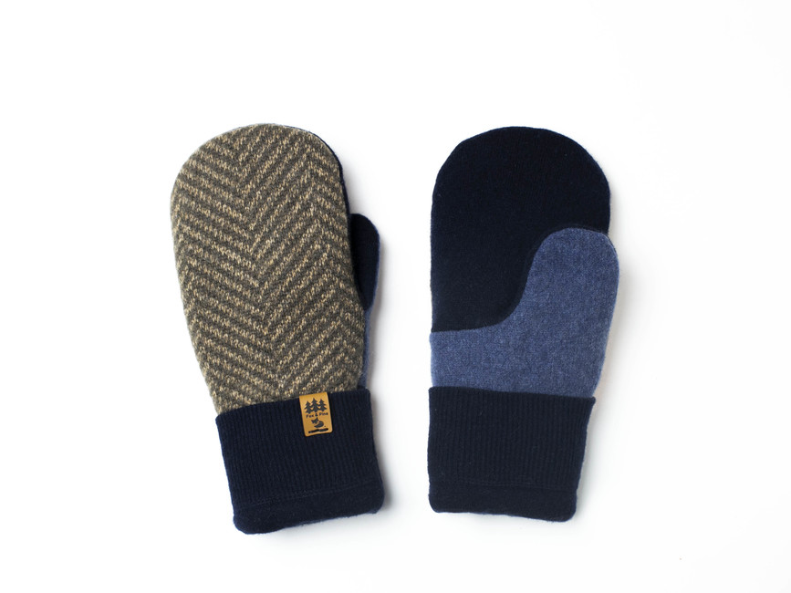 Mens Sweater Mittens Upcycled Wool Sweaters