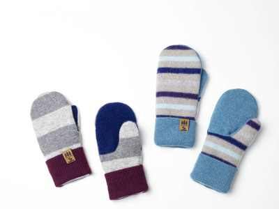 Children's Sweater Mittens Upcycled Wool Sweaters