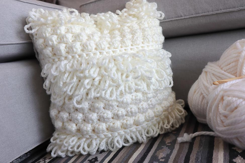 Boho Crochet Pillow