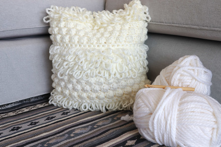 Boho Crochet Pillow