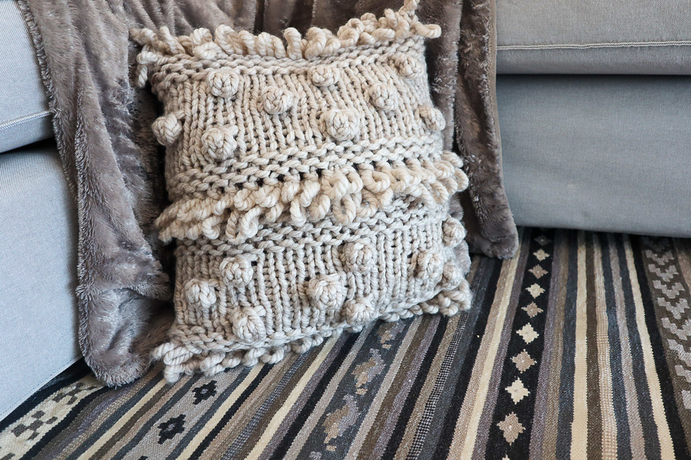 Bohemian Bobbles Pillow