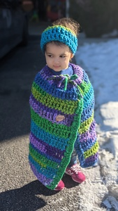 Carseat cape blanket
