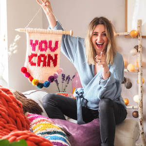 'You Can' Knitted Wall Hanging