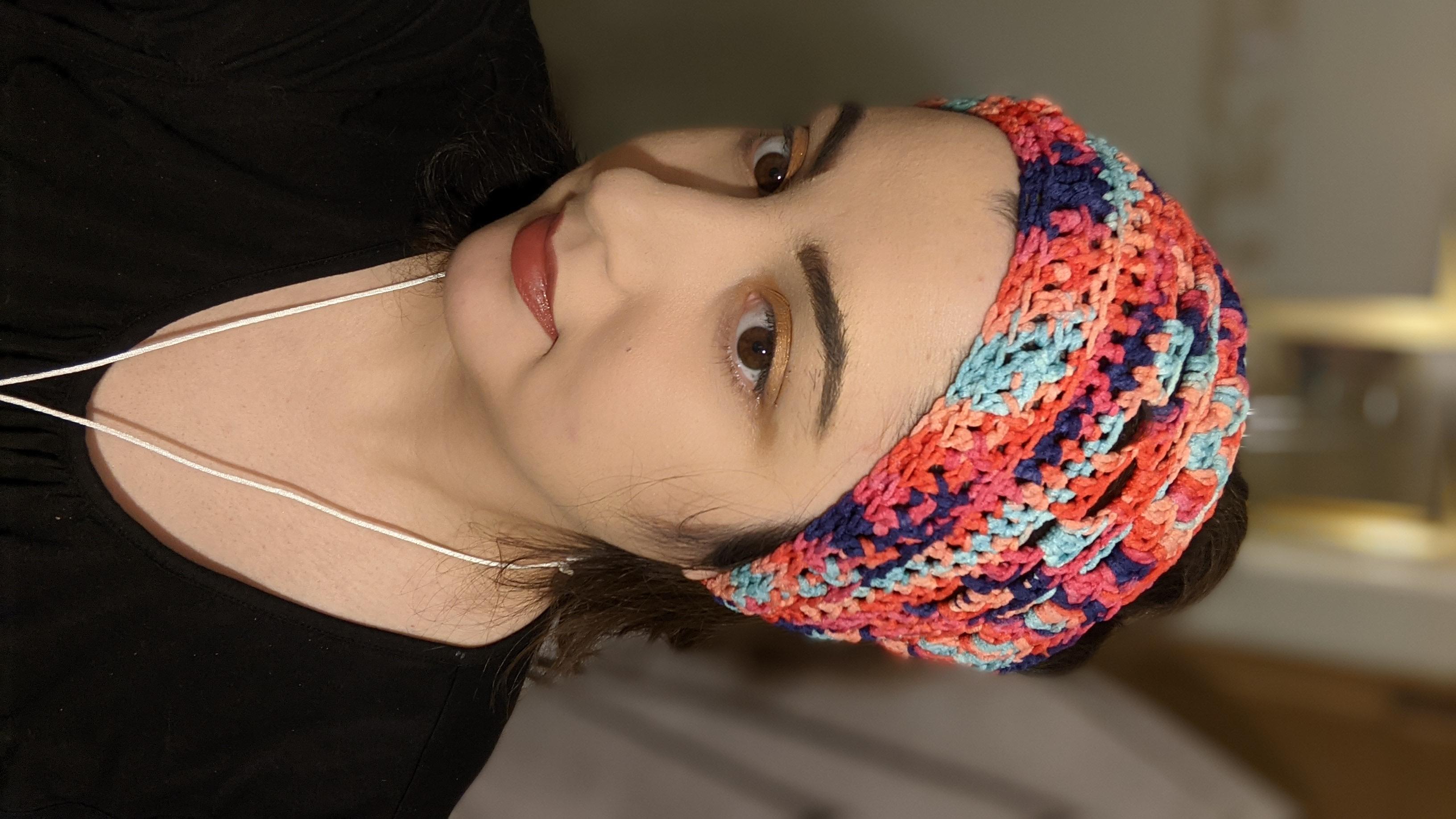 Granny shell headband