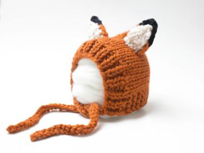 Fox Ears Pixie Bonnet Hat Baby Children