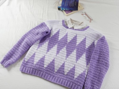 Preppy Diamond Jumper