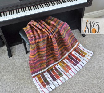 Piano Pizzazz Blanket