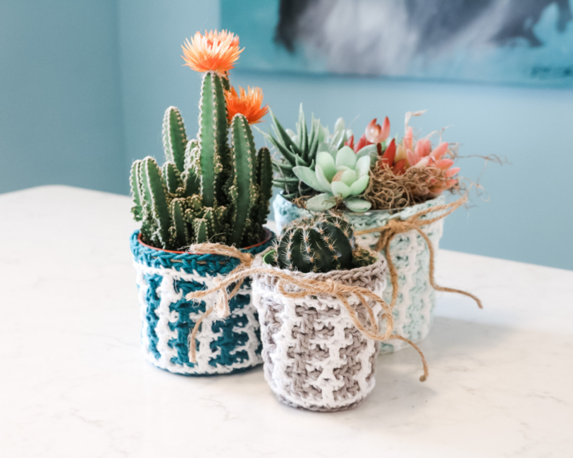 Mosaic Easter Plant Pot Cover