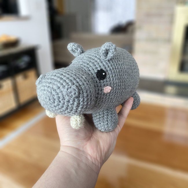 Hippo Amigurumi (2 sizes)