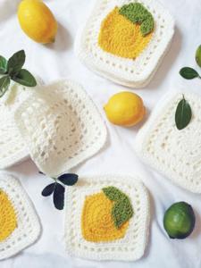 Citrus Squares Blanket