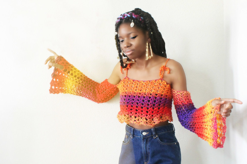 The Lunas Crochet Top.