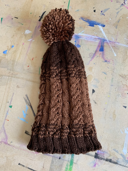 Stacked Hearts Cable Hat