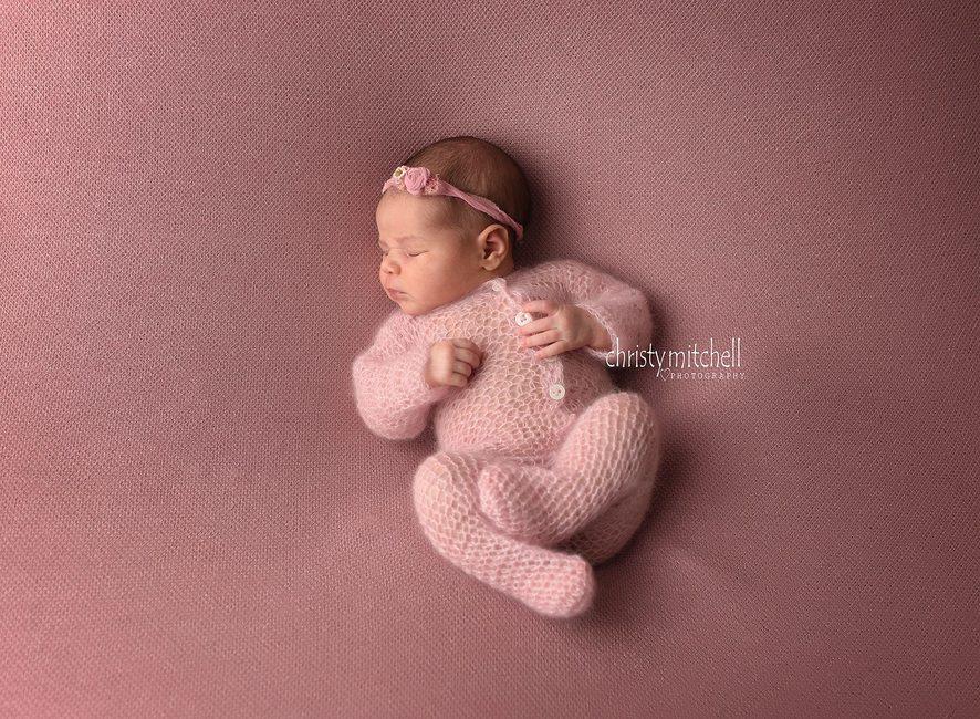 Precious Newborn Footed Romper