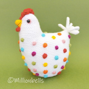 Polka Dots Chicken Amigurumi Easter