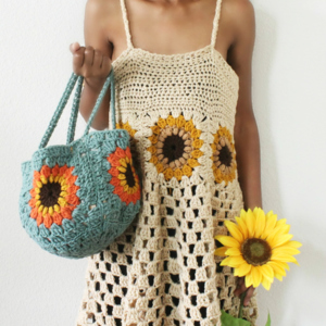 The Sunflower Crochet Bag.