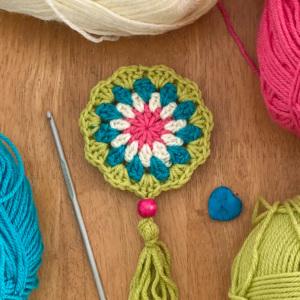 Crochet Flower Amulet