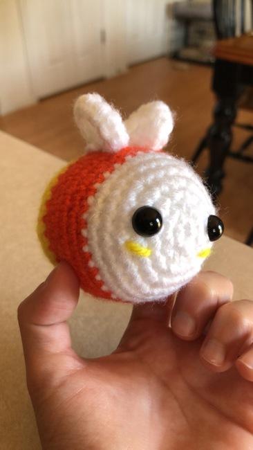 Crochet Candy Corn Bee