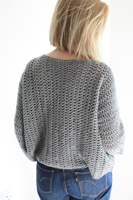 Tulip Time Easy Crochet Sweater