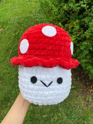 Crochet mushroom plushie