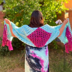 Isla Festival Shawl (knit + crochet)