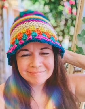 Leighla (knit & crochet) Bucket Hat