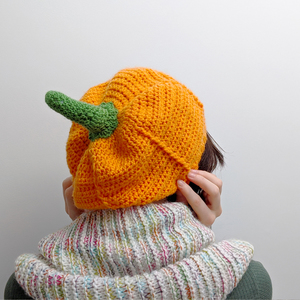 Pumpkin Slouchy Hat