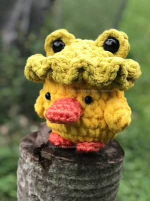 Duck with Frog Hat
